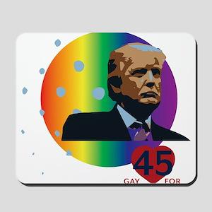 President Trump - Gay for 45 Mousepad