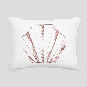 Oyster paper art origami Rectangular Canvas Pillow