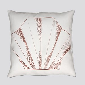 Oyster paper art origami Everyday Pillow