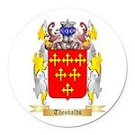 Theobalds Round Car Magnet