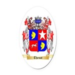 Thenot Oval Car Magnet