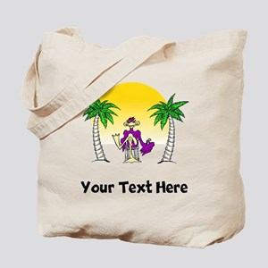Cool Bird On Beach (Custom) Tote Bag