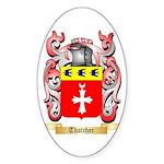 Thatcher Sticker (Oval 50 pk)