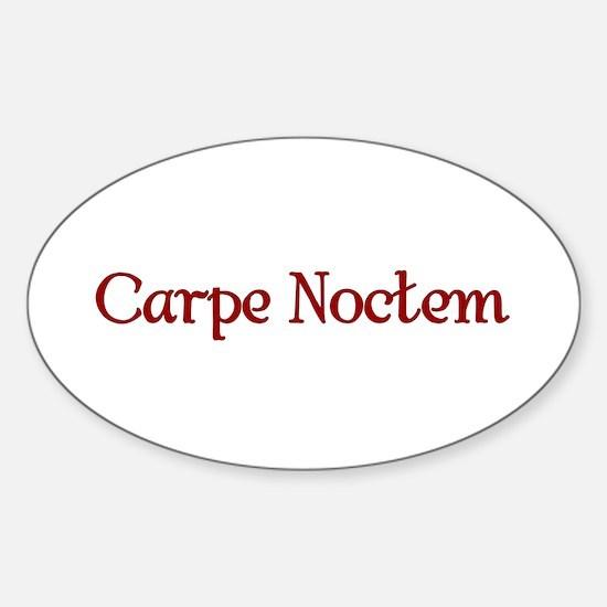 Carpe Noctum Oval Decal