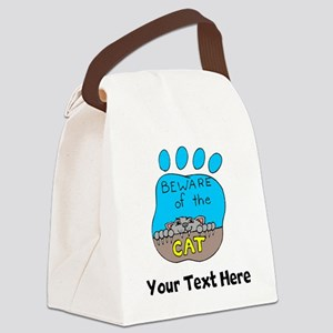 Beware Of The Cat (Custom) Canvas Lunch Bag