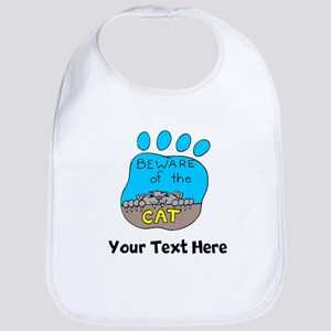 Beware Of The Cat (Custom) Bib