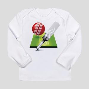 Cricket pitch bat ball Long Sleeve T-Shirt