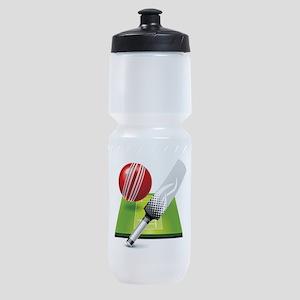 Cricket pitch bat ball Sports Bottle