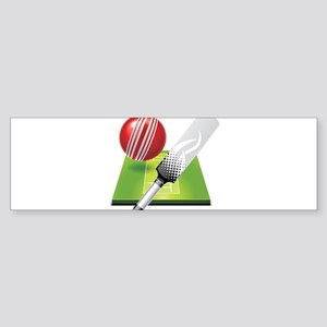 Cricket pitch bat ball Bumper Sticker