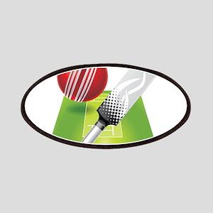 Cricket pitch bat ball Patch