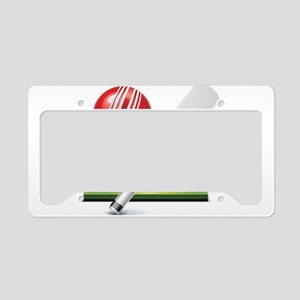 Cricket pitch bat ball License Plate Holder