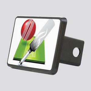 Cricket pitch bat ball Rectangular Hitch Cover