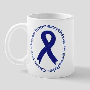 Navy Blue Ribbon Mug