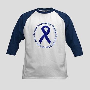 Navy Blue Ribbon Kids Baseball Jersey