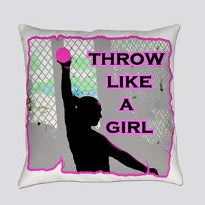 Throw like a Girl Shotput Everyday Pillow