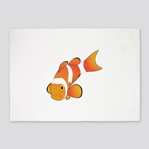 Clownfish graphic art 5'x7'Area Rug