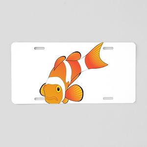 Clownfish graphic art Aluminum License Plate