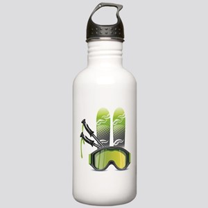 Skiing skies goggles a Stainless Water Bottle 1.0L