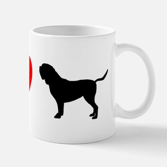 I Heart Dogue de Bordeaux Mug