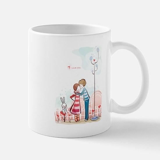 Couple kissing art Mugs