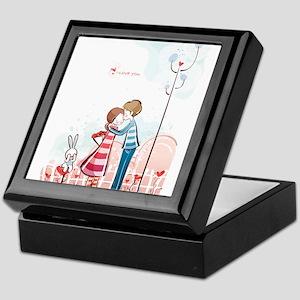 Couple kissing art Keepsake Box