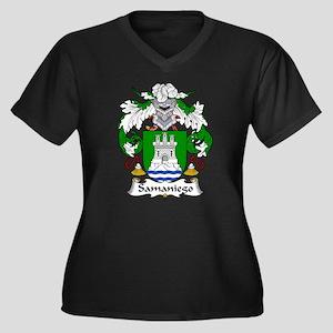 Samaniego Women's Plus Size V-Neck Dark T-Shirt