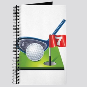 Golf court with club and ball Journal