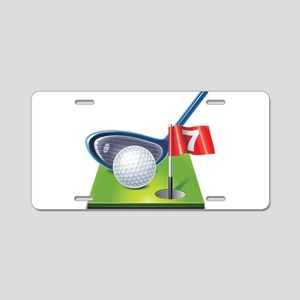 Golf court with club and ba Aluminum License Plate