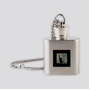 Throw like a girl shotput Flask Necklace