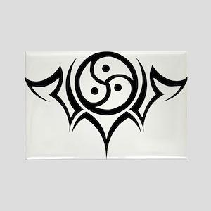 Tribal BDSM Symbol Rectangle Magnet