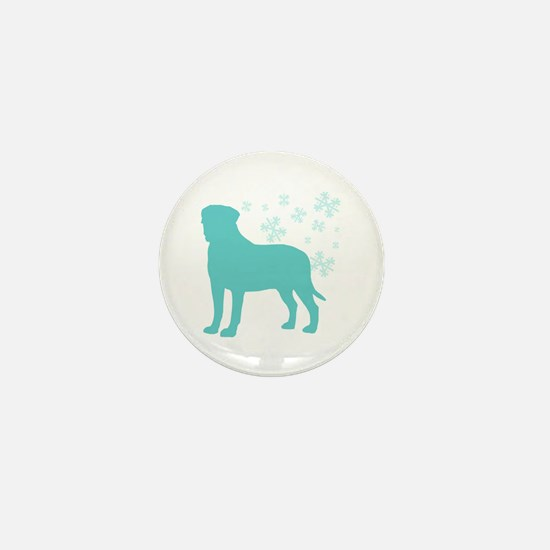 Bullmastiff Snowflake Mini Button
