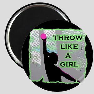 Throw like a girl shotput Magnets