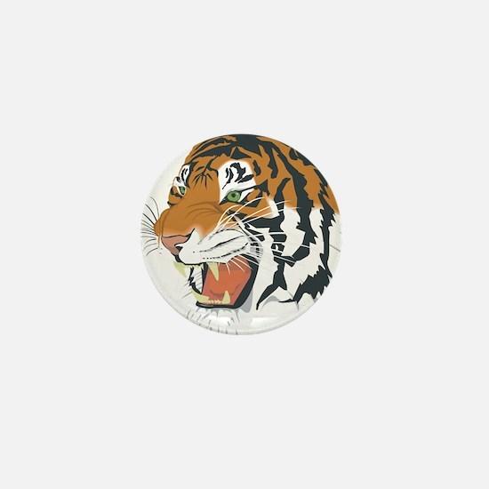 Ferocious tiger head Mini Button