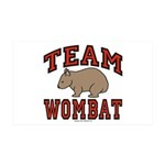 Team-Wombat-Black-Red 35x21 Wall Decal