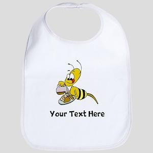 Bee Eating Pancakes (Custom) Bib