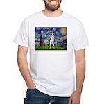 Starry Night Boston (#2) White T-Shirt