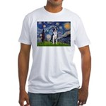 Starry Night Boston (#2) Fitted T-Shirt