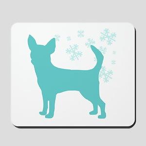 Chihuahua Snowflake Mousepad