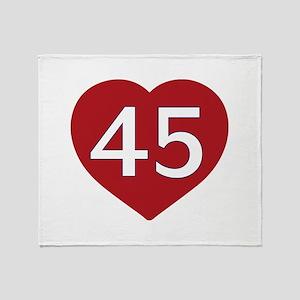 President Trump - Love 45 Throw Blanket