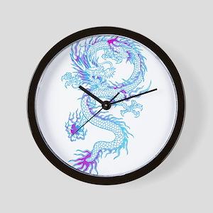Blue dragon tattoo Wall Clock
