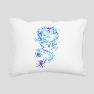 Blue dragon tattoo Rectangular Canvas Pillow
