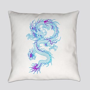 Blue dragon tattoo Everyday Pillow