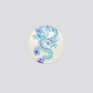 Blue dragon tattoo Mini Button