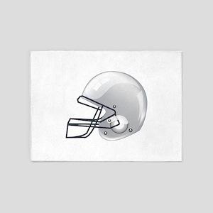 American football gridiron helmet 5'x7'Area Rug