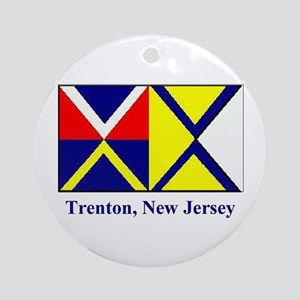 Trenton NJ Flag Ornament (Round)