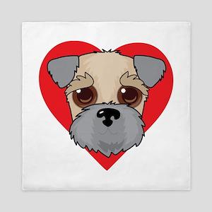 Wheaten Terrier Face Queen Duvet