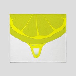 Lemon Juice Throw Blanket