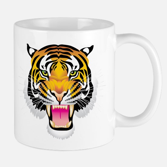 Ferocious tiger head Mugs