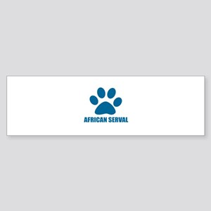 African serval Cat Designs Sticker (Bumper)