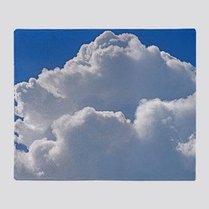 Puffy clouds Throw Blanket